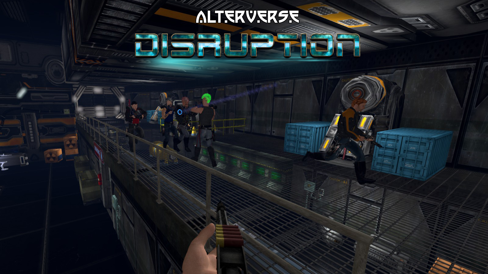 AlterVerse Disruption - Battle in the Launch Bay.