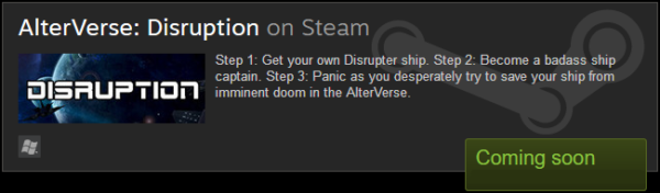 AlterVerse: Disruption on Steam. Coming Soon!