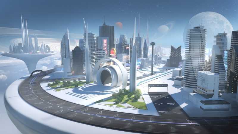 Over the years they built the first Sky City on a planet they called Aureus.